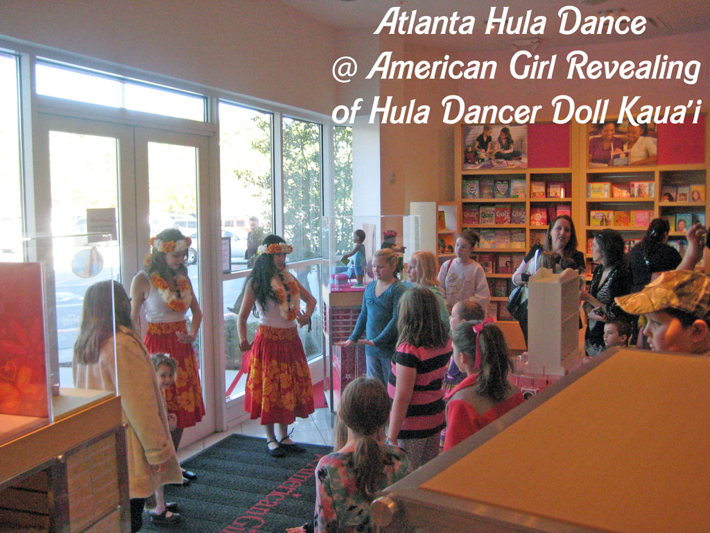 Atlanta Hula Dancers at Revealing of American Girl Hula Doll