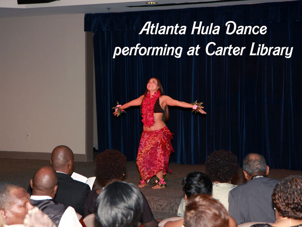 Atlanta Hula Dancer at Carter Center Library