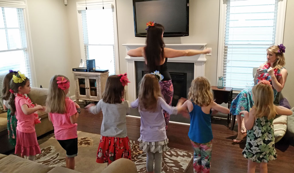 Children Birthday Hula Party